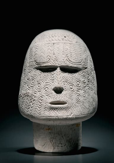 solomon island chalk stone head