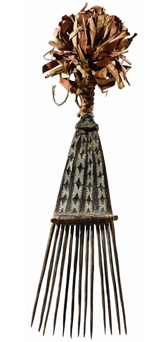 Solomon island hair comb