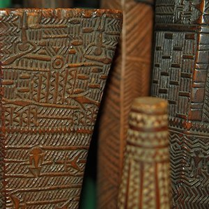 Old Carved Club from the pacific